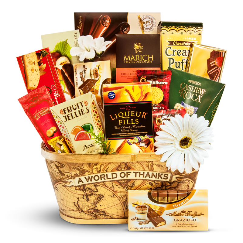 A World of Thanks - Thank you gift basket