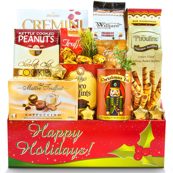 A Happy Holiday Wish - Christmas Gift Basket