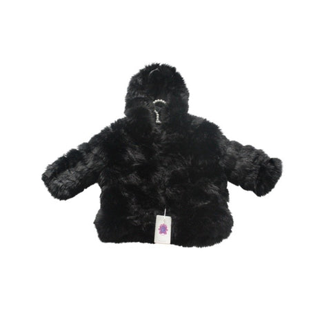 SAM HOOD BOYS FAUX FUR COAT