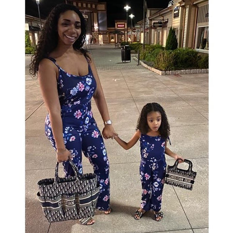 FLORAL MOTHER/DAUGHTER JUMPSUITS