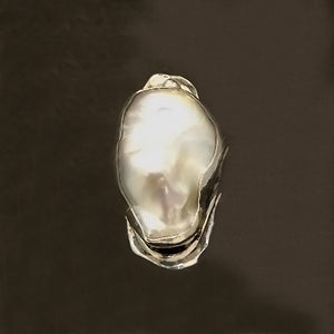 Luminous Fancy Freshwater Pearl set in Sterling Silver Ring