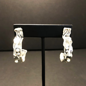 Sterling Silver Hoop Earrings A
