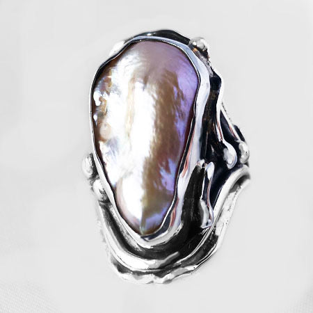 Freshwater Pearl in Sterling Silver Ring