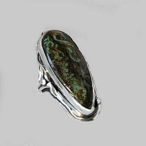 Varicite in Sterling Silver Ring