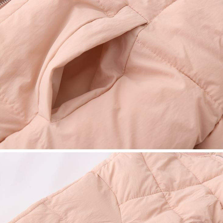 Puff Padded Zipper With Hood Jacket