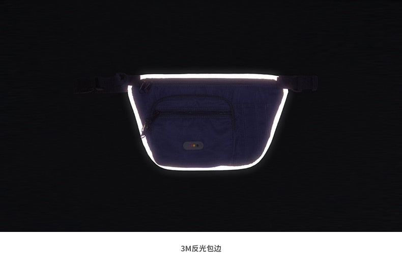 Reflective Glowing Waist Fanny Pack