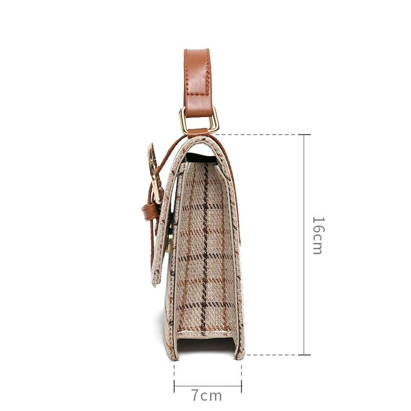 Luxury Strap Plaid Bag