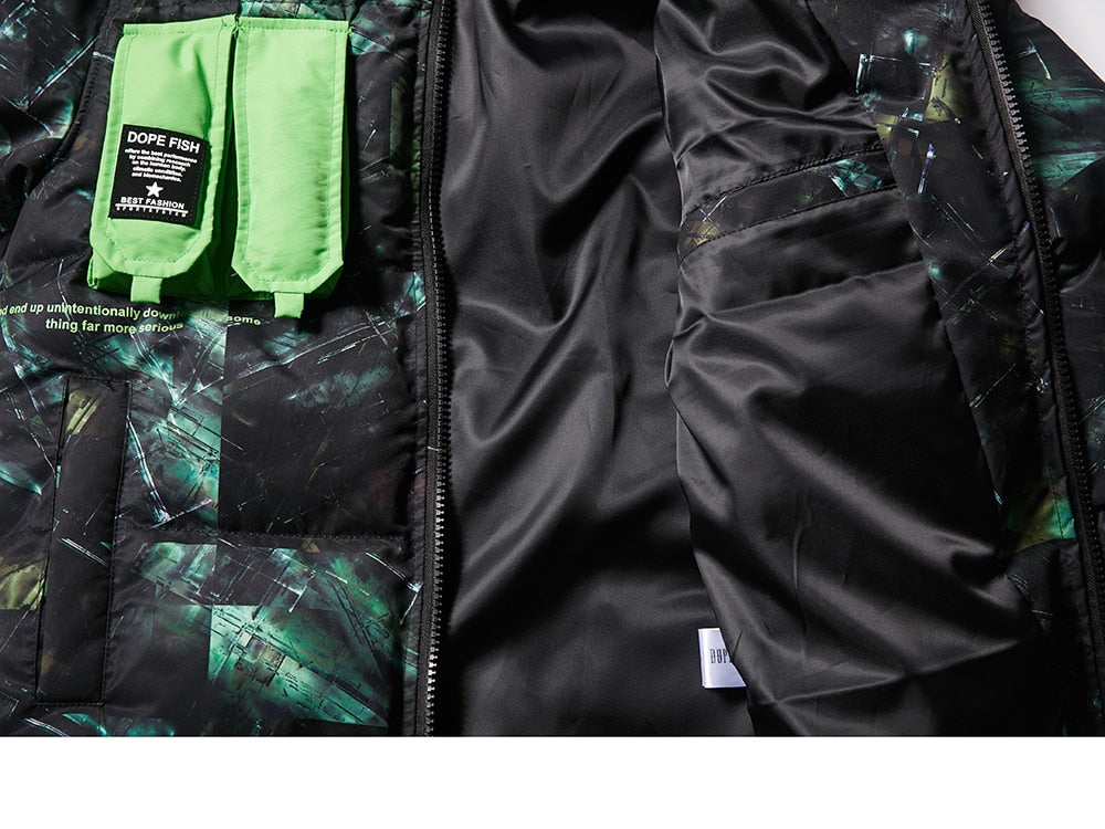 DOPE FISH Street Paint Camo Parka Jacket