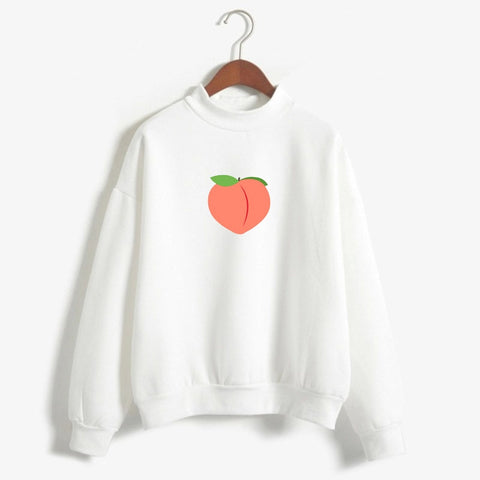 Peach Pixel Art Sweatshirt Deal4deal Shop