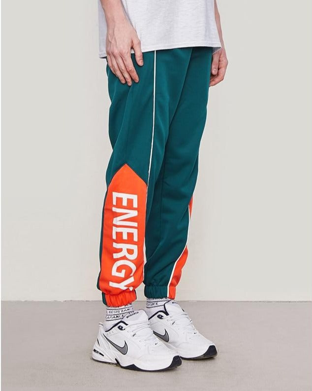Energy Letter Printed Side Striped Retro Trouser