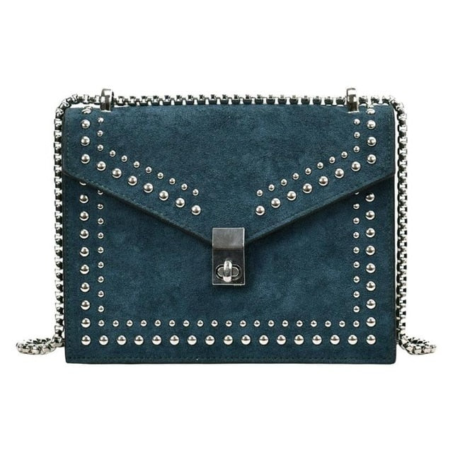 Chain Rivet Lock Crossbody