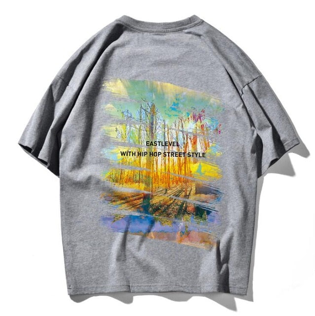 Summer Graffiti print Hip Hop T Shirt