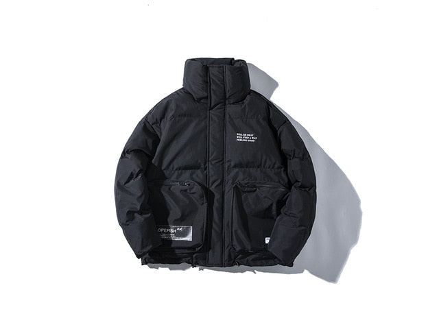 DOPE FISH Thick Streetwear Winter Parka