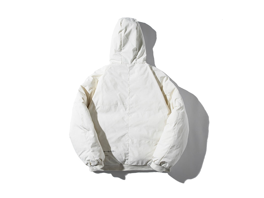 DOPE FISH White Bubble Bomber Jacket