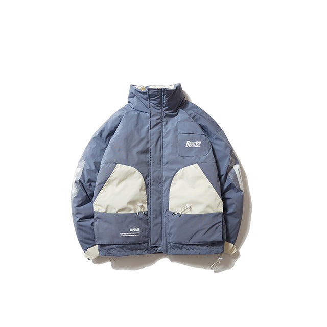 DOPE FISH Patchwork Winter Windbreaker Jacket