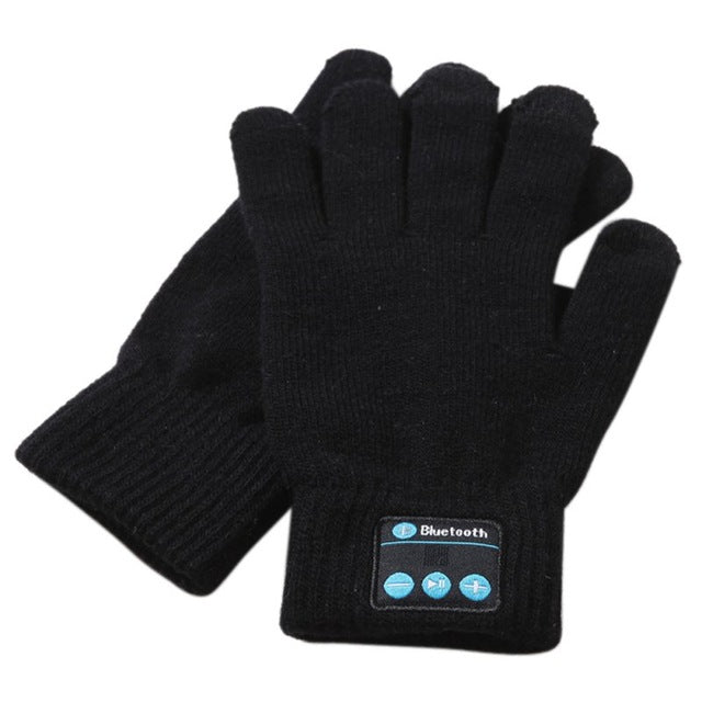 Unisex Bluetooth Gloves Women Men Winter Knit Warm Mittens Call Talking Gloves