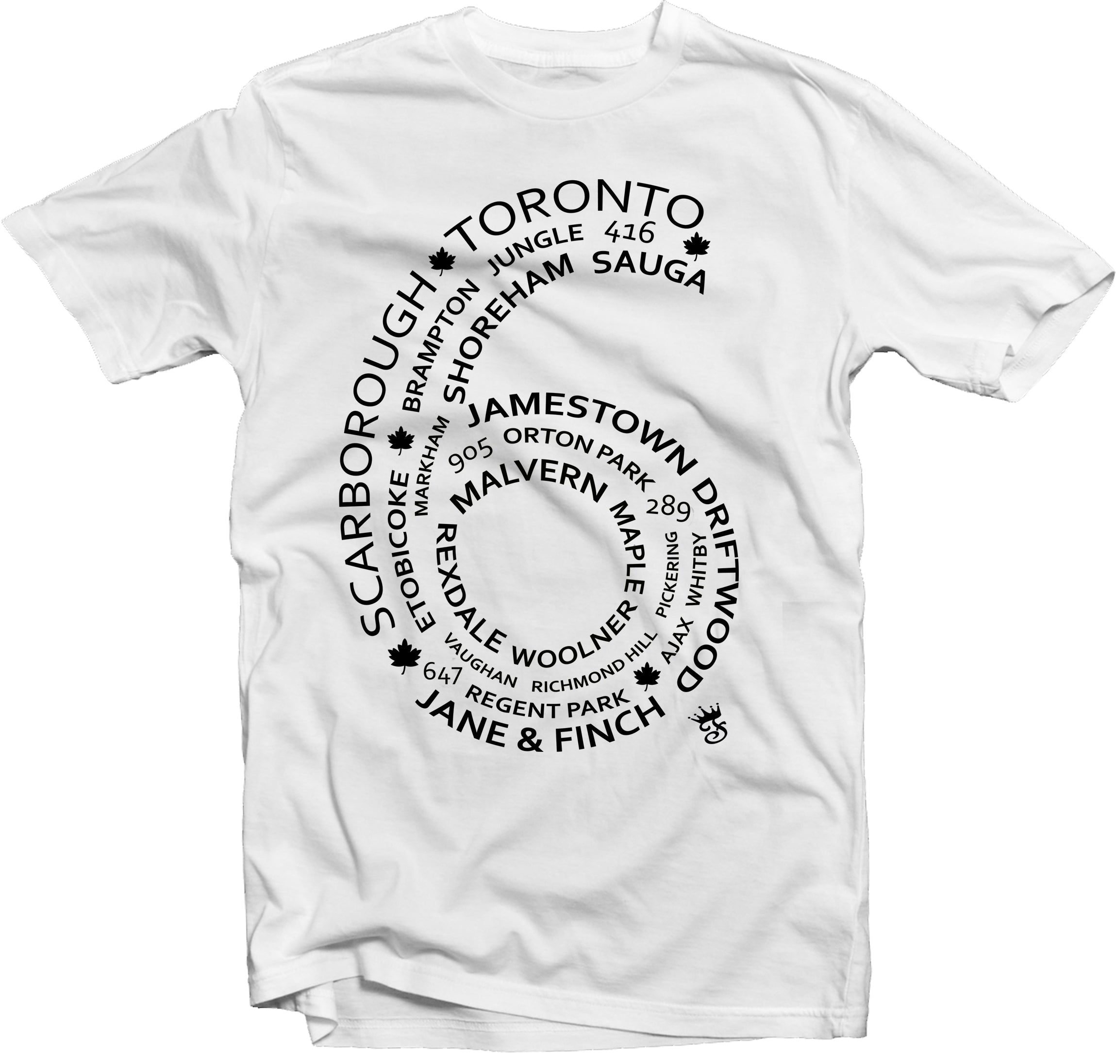 6 Side T shirt White streetwear - Famous Club Clothing - Famous Club Clothing