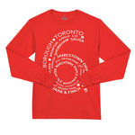 Toronto streetwear 6 Side L/S Tee Red | Famous Club Clothing - Famous Club Clothing