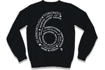 Famous Club Clothing Streetwear Black 6 SIDE CREWNECK Sweater - Famous Club Clothing