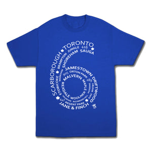 6 Side Tee Royal Blue