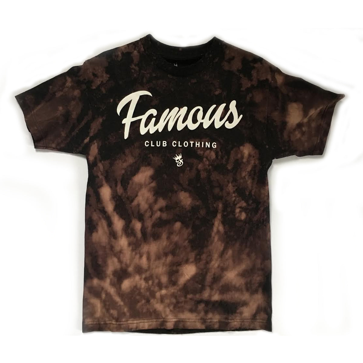 FAMOUS Script Tee Acid Wash - Famous Club Clothing
