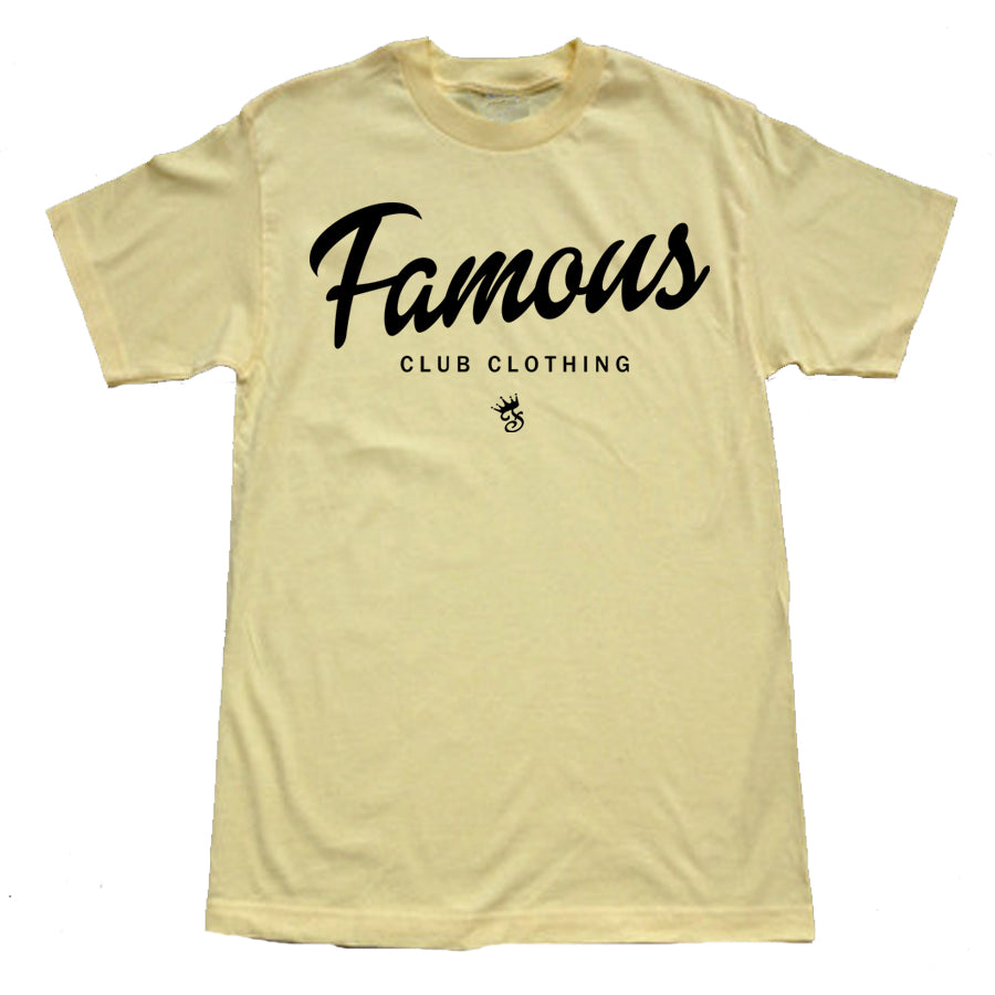 FAMOUS Script Tee Banana - Famous Club Clothing