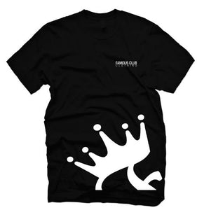 Crown T Shirt  Black Streetwear Lifestyle - Famous Club Clothing