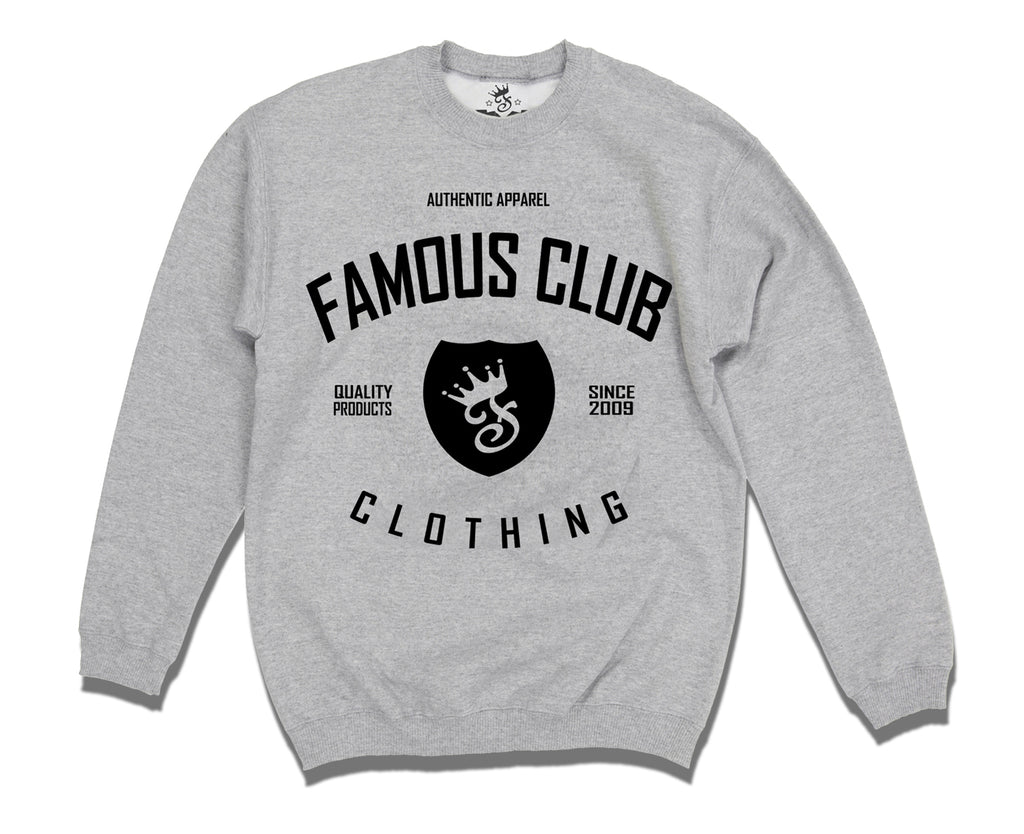 Classic Shield Crewneck Streetwear Sweatshirt - Famous Club Clothing