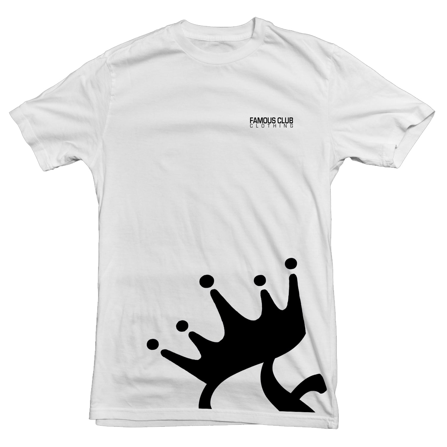 Crown White T Shirt  Streetwear Lifestyle - Famous Club Clothing