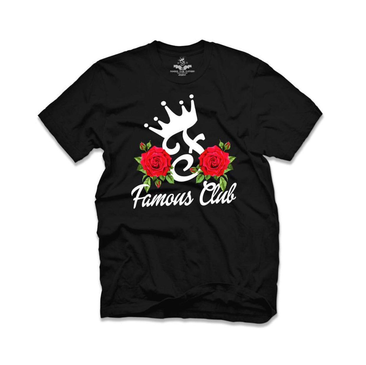 Rose Tee Black - Famous Club Clothing