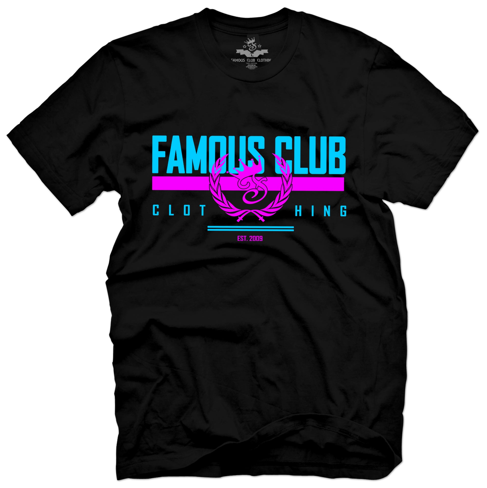 Miami Stamp Tee Black - Famous Club Clothing