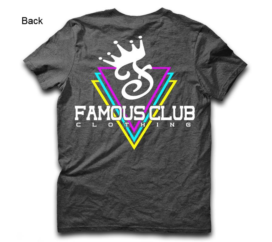 Triple Diamonds Tee Charcoal Heather - Famous Club Clothing
