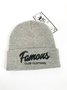 FAMOUS Script Bennie Grey - Famous Club Clothing