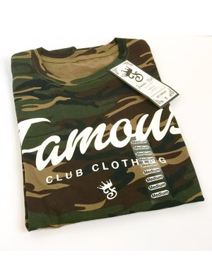 Famous Script Tee - Camo - Famous Club Clothing