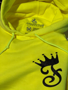 Neon Green Fame Hoodie - Famous Club Clothing