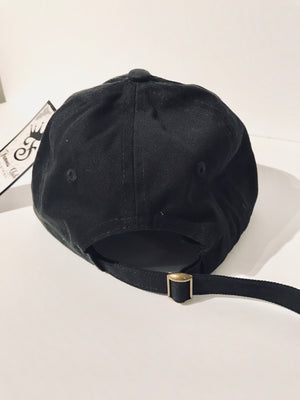 FAMOUS Script Black Dad Hat - Famous Club Clothing