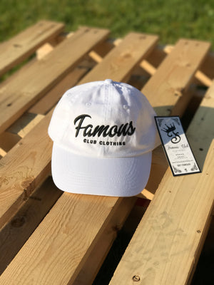 White Dad Hat - Famous Club Clothing
