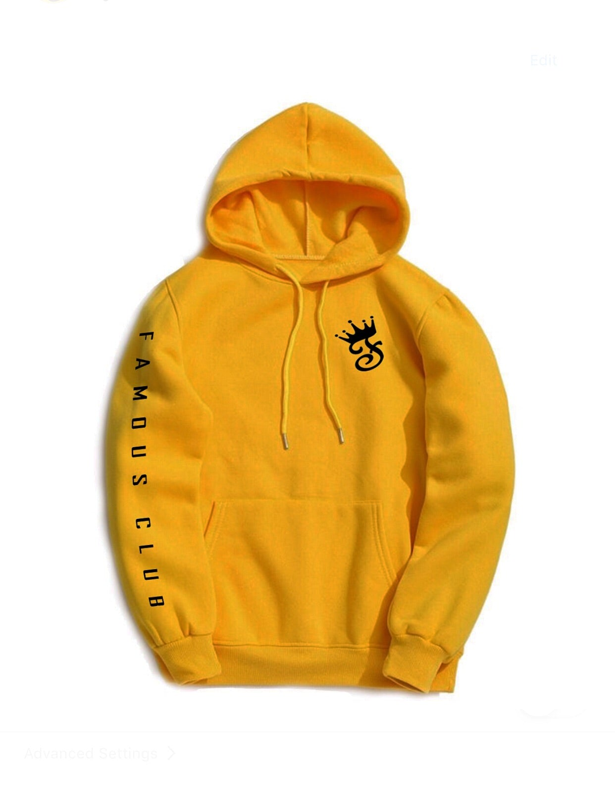 Golden Fame Hoodie - Famous Club Clothing