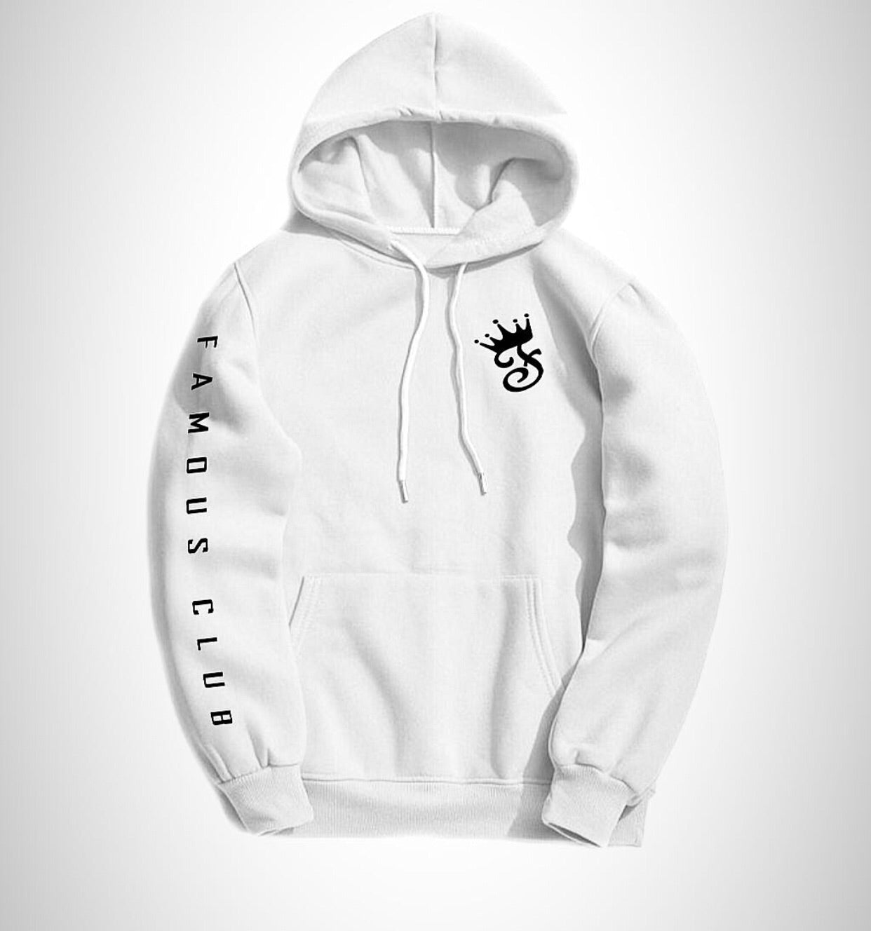 Snow White Fame Hoodie - Famous Club Clothing