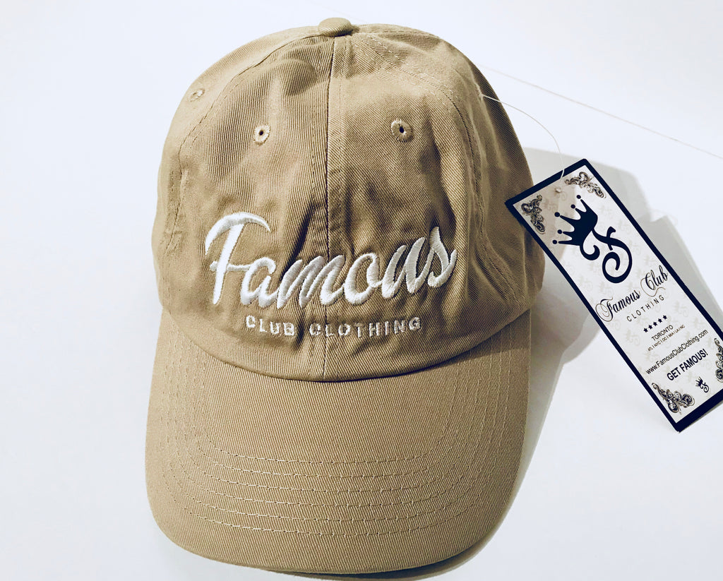 Khaki Dad Hat - Famous Club Clothing