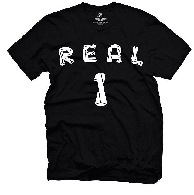 Real 1 Tee Black - Famous Club Clothing