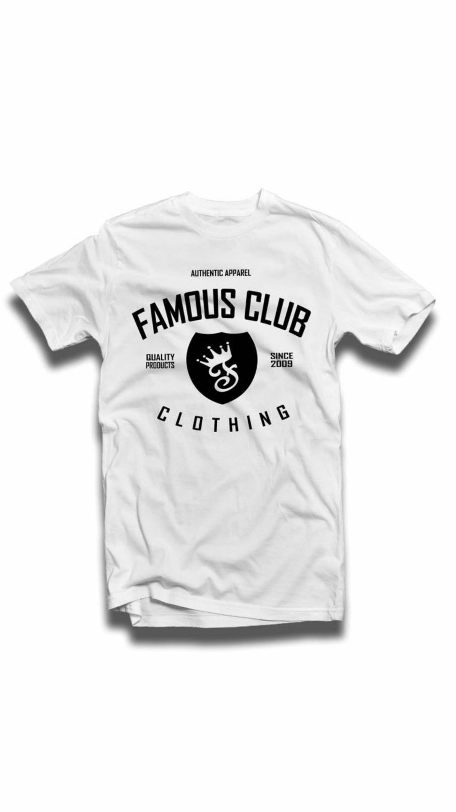 Streetwear Classic Shield Tee White - Famous Club Clothing