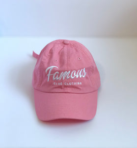 Pink Dad Hat - Famous Club Clothing