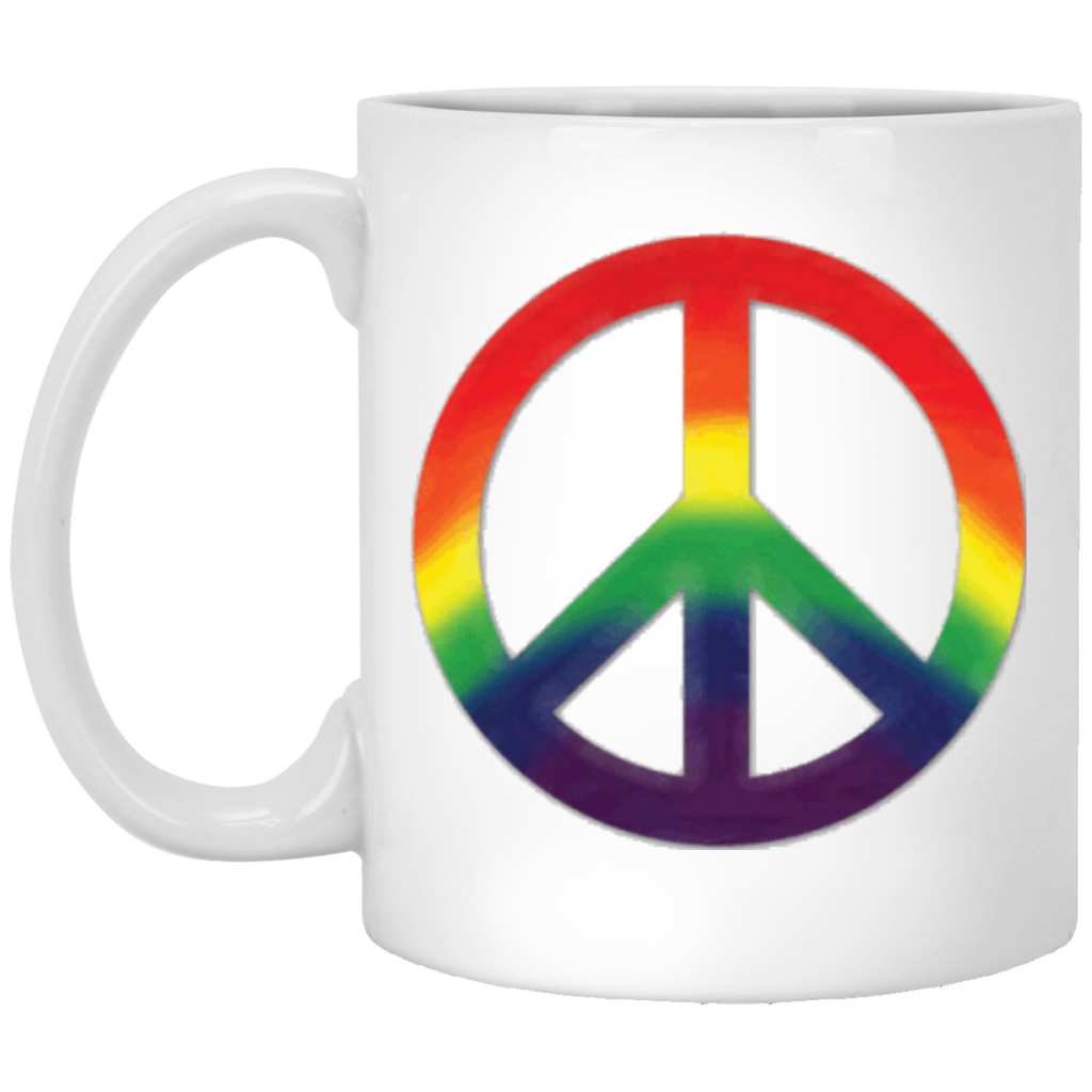 Peace Sign 11 Oz White Mug