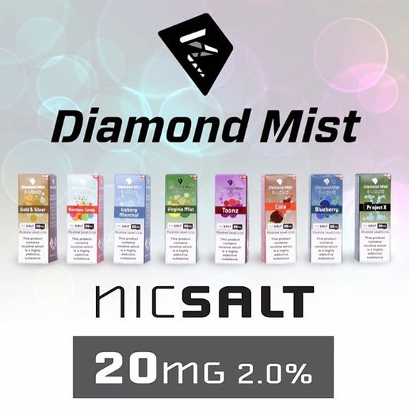 Diamond Mist 20mg Nicotine Salt Range