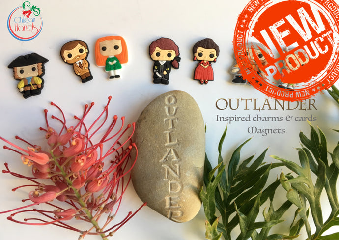 7 pcs -Inspired Outlander magnets and magnet cards