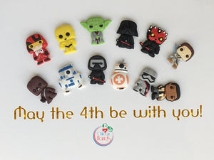 12 pcs Star Wars Inspired pvc Fridge magnets plus two magnet cards