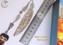 Feather Harry Potter Inspired metal bookmarks