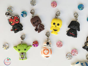 Star Wars inspired stitch markers and progress keepers PVC charms- 12 pieces