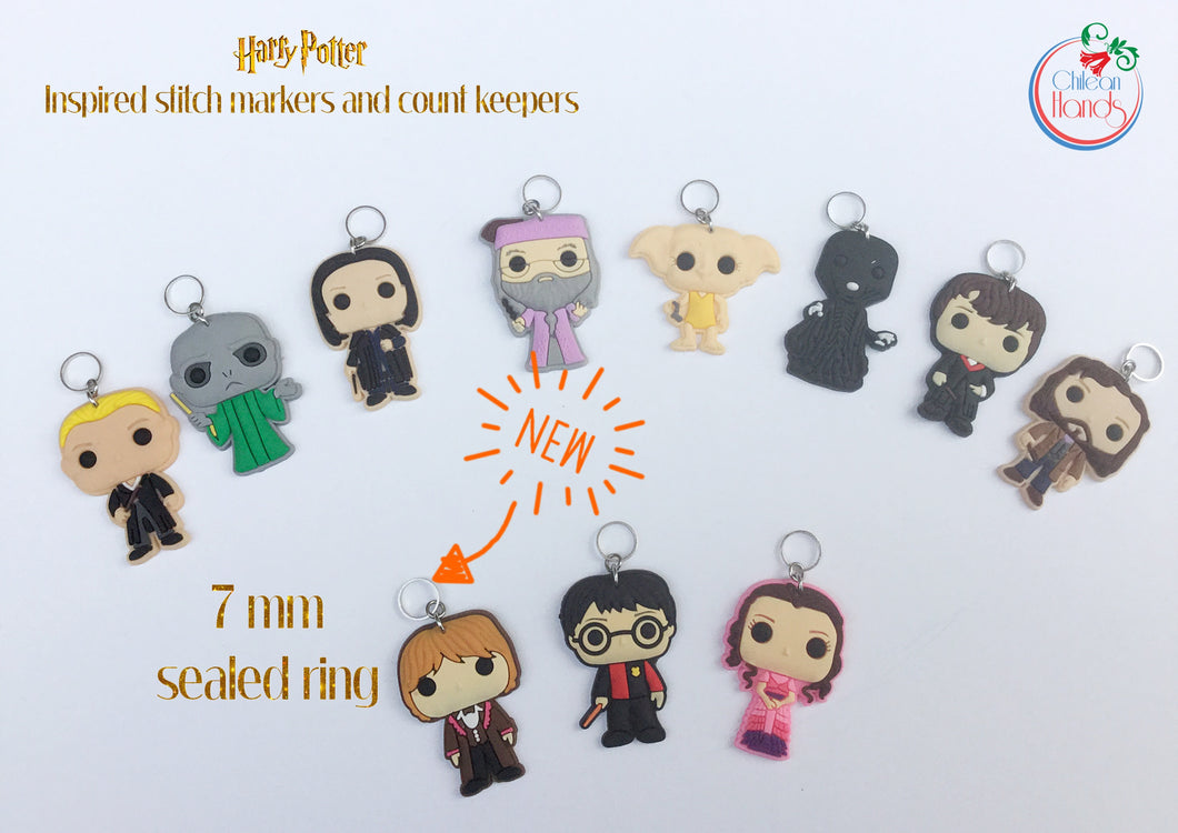 Set of 11 Harry Potter figures stitch markers for crochet and knitting - HP envelope available
